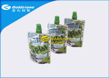 China Liquid Stand Up Pouch Packaging Bags With Spout , Polymer Food Doy Pack Packaging supplier