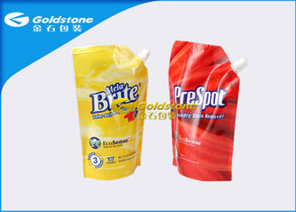 China Custom Design Stand Up Pouch With Spout Washing Detergent Powder Packaging supplier