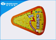 China Drop Shaped Disposable Heat Seal Foil Lids Sealing For Dairy Packaging factory
