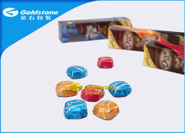 China Colorful Printing Personalized Chocolate Foil Wrappers Coloured Foil For Wrapping Chocolates factory