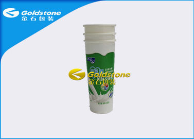 China Flexography Printing Plastic Yogurt Cup Containers , Cold Filling Plastic Milkshake Cups distributor
