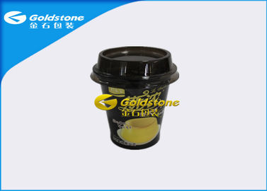 China High End Deluxe Plastic Yogurt Cups With Inmold Label Or Shrink Sleeve distributor