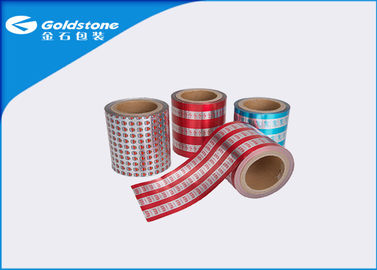 China Good Seal Laminated Seal Aluminium Foil Lids Cap Film Roll With Vivid Pattern distributor