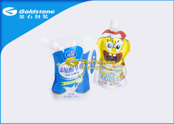 Different Shape Stand Up Foil Pouches With Spout Puncture / Drop Resistance